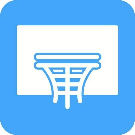 Basket hoop icône Banque d'images - 99193143
