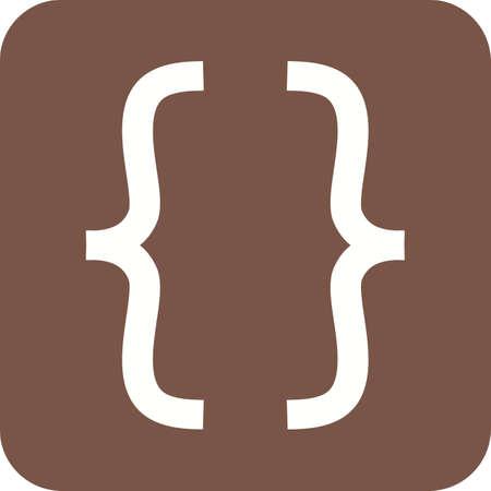 Bracket symbol icon.