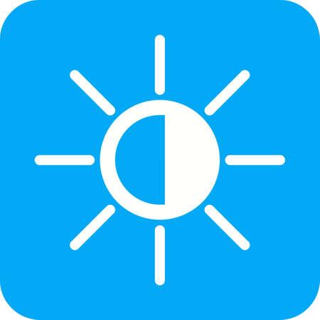Display screen or brightness icon