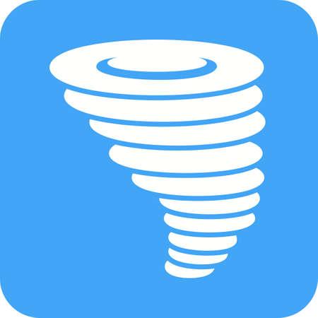 Tornado symbol icon.