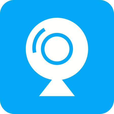 Camera webcam video icon image. Can also be used for computer and hardware. Suitable for use on web apps, mobile apps and print media. Vector illustration. Illustration