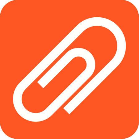 Attachment or clip icon.