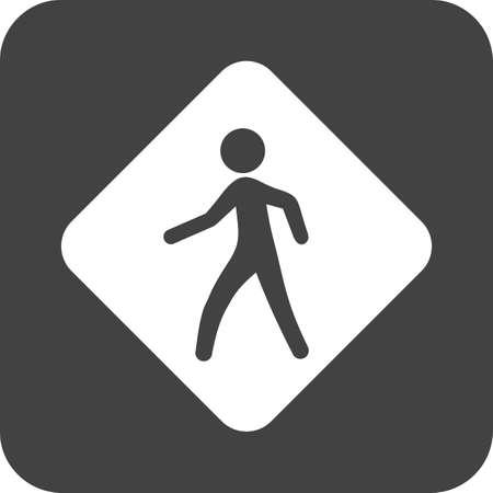 A Pedestrian Sign icon