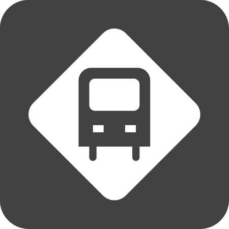 Bus Stop Sign Illustration