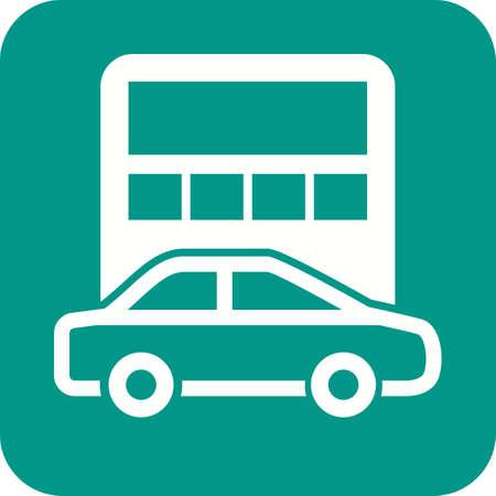Car Calculation symbol Иллюстрация