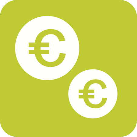 Currency, euro, pound Иллюстрация