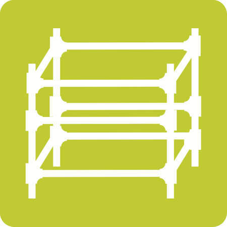 Scaffolding of steel for engineering