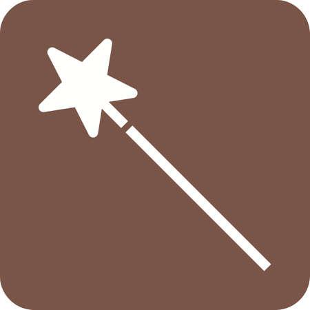 Magic wand icon. Illustration