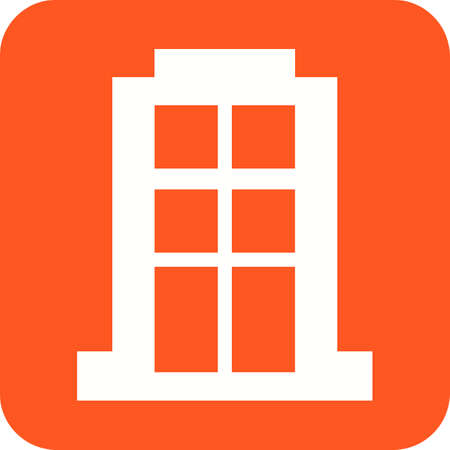 Apartment block icon Illustration
