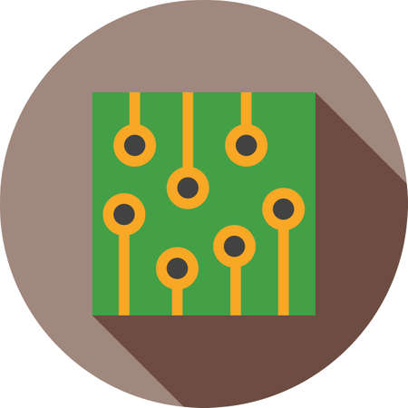 Circuit, ic, processor icon Illustration