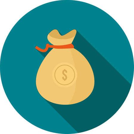 Dollar Currency with bag Illusztráció