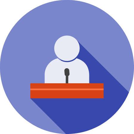 Guest speaker icon.