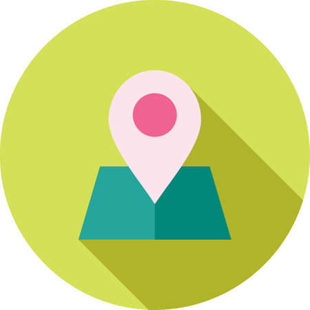 Maps, location, area icon. Illustration