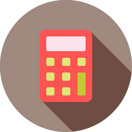 Calculator, sum, subtract icon.
