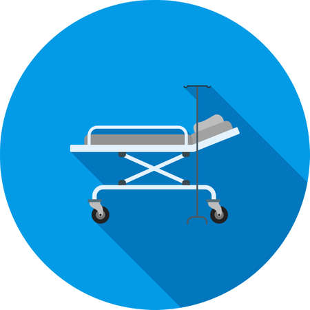 Hospital bed icon.