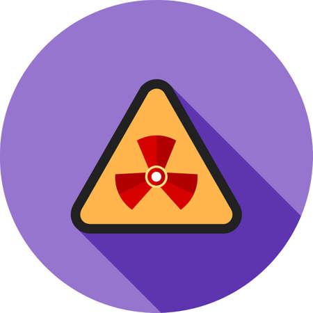 Radiation zone icon. Ilustrace