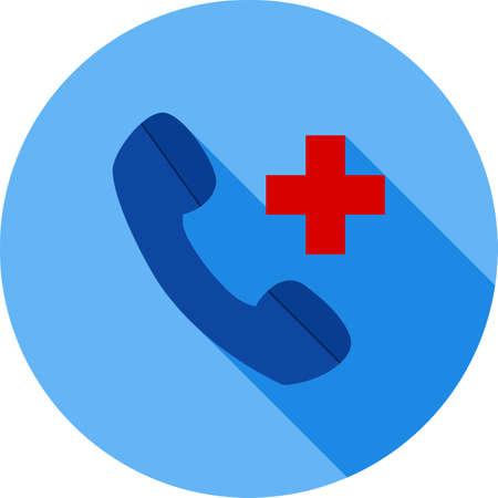 Helpline, telephone icon Illustration