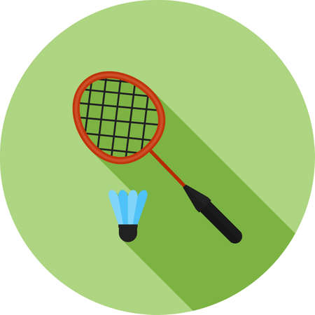 Badminton, racket, shuttlecock,