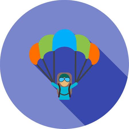 Paragliding parachute illustration.