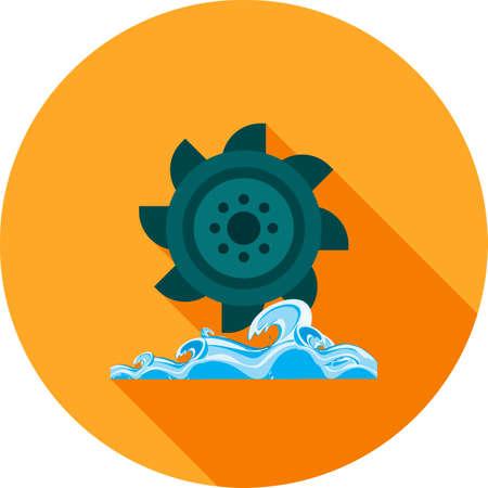 Hydro Power icon illustration.