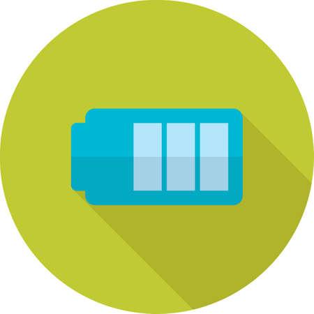 Battery energy full icon illustration. Illusztráció
