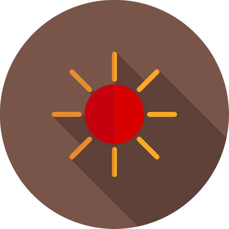 Brightness display icon illustration.