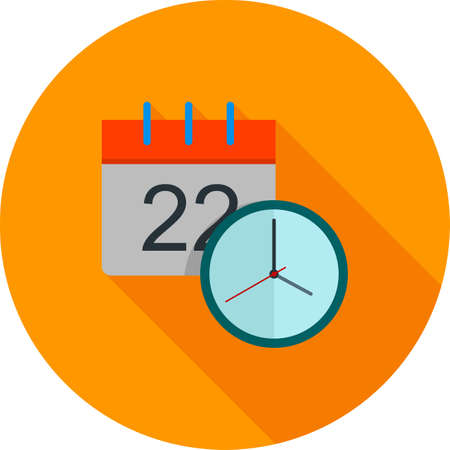 Date and time icon illustration.