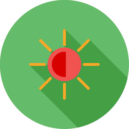 Display  screen monitor brightness icon illustration. Illustration