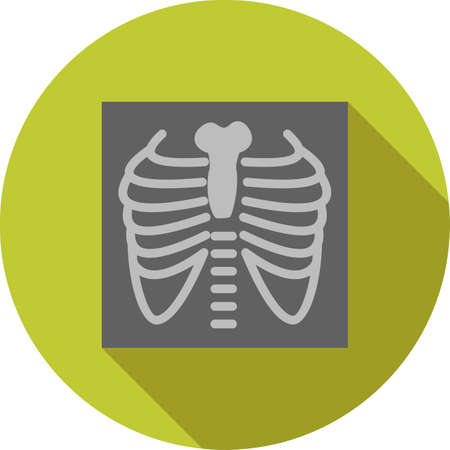 Lungs X ray icon illustration.