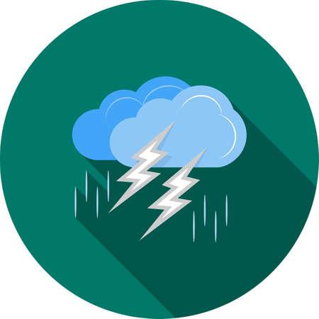 Thunderstorm icon illustration.