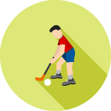 Hockey speler pictogram illustratie. Vector Illustratie