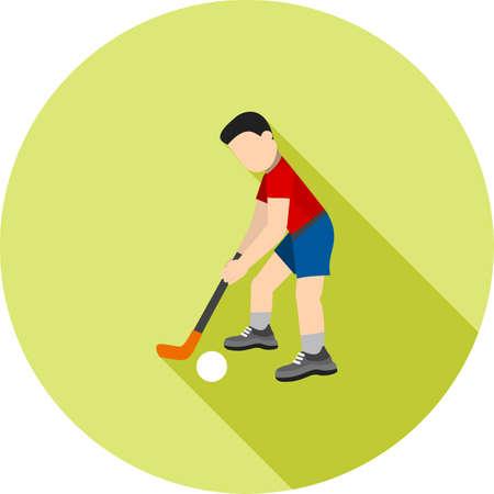 Hockey Player icon illustration. Illustration