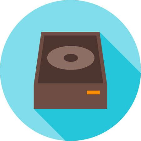 DVD ROM icon illustration.