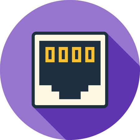 Network clip icon illustration. 矢量图片