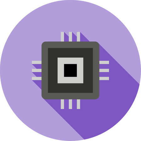 Chip, Circuit icon illustration.
