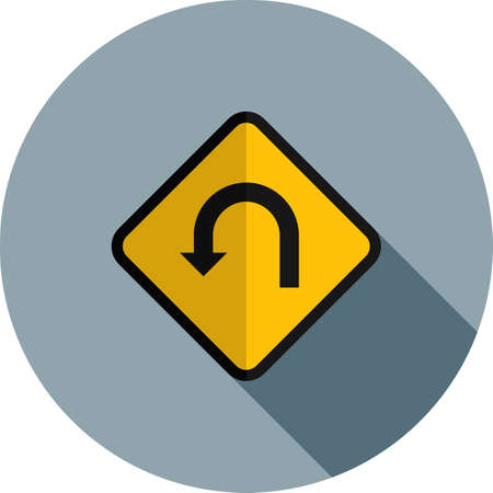 U-turn Sign icon
