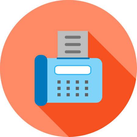 Fax Machine icon illustration.