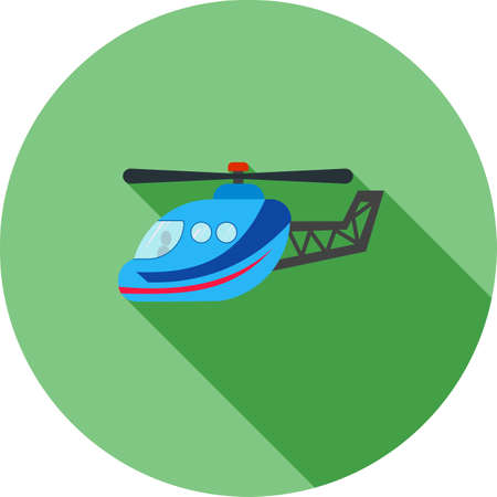 Helicopter icon illustration.