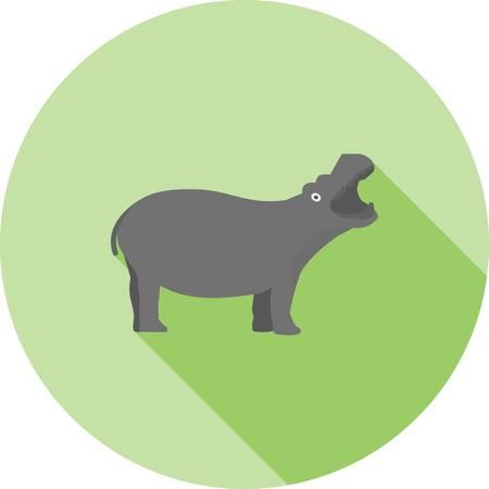 Hippopotamus animal logo Stock Illustratie