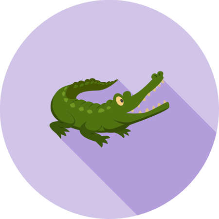Alligator or crocodile icon 向量圖像
