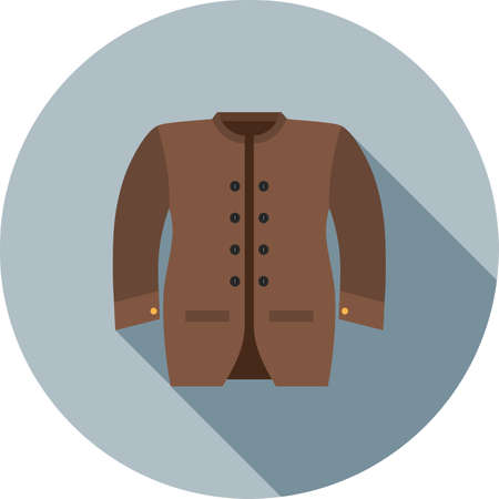 Mens, jacket, coat icon vector image. Can also be used for clothes and fashion. Suitable for web apps, mobile apps and print media.