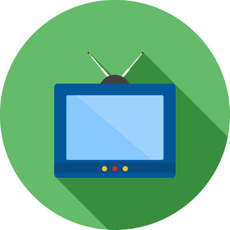 Television, tv, screen icon vector image. Can also be used for household objects. Suitable for use on web apps, mobile apps and print media.