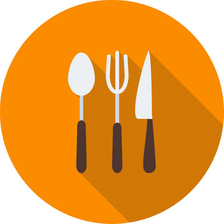 Utensils and knife icon