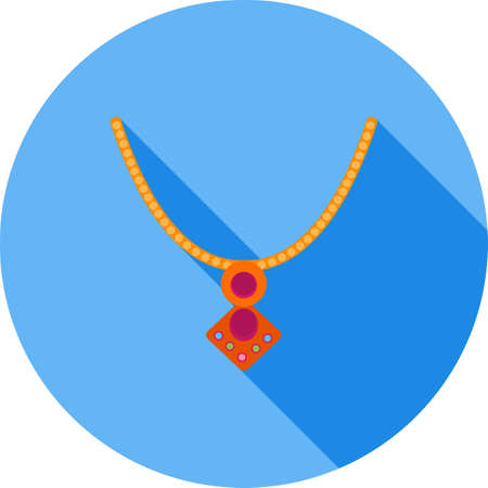 Locket, gold icon Çizim