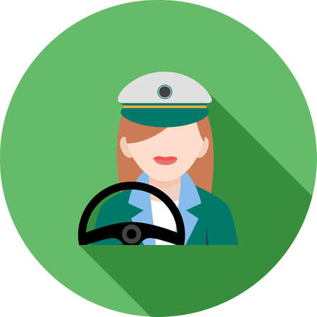 Driver Female Icon