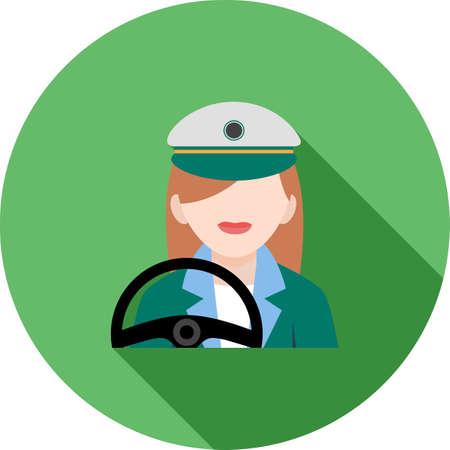 Driver Female Icon
