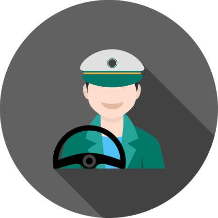 Driver Male Icon