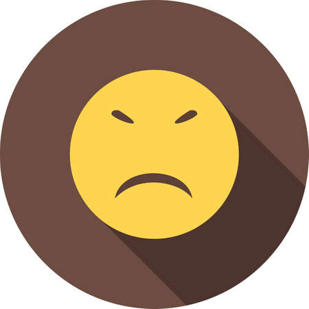 Stubborn, angry icon Illustration