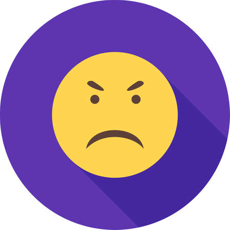Unhappy or angry icon