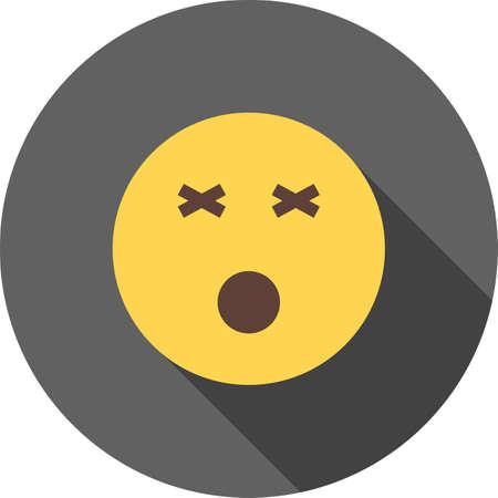 Dizzy, dizziness icon Ilustração